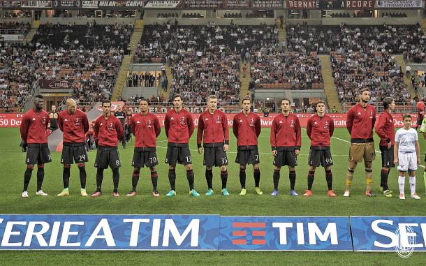 Il Milan che ha iniziato contro la Lazio, acmilan.com