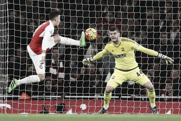 Forster won a lot of praise following an excellent performance against Arsenal (photo source:getty)