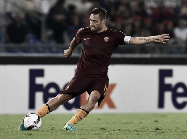 100esima presenza in Europa per Totti stasera. Fonte: forzaroma.info