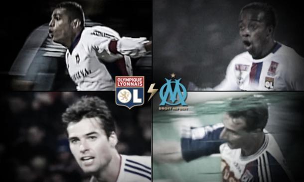 Jugadores del Lyon que se destacaron ante el Marsella. Foto: Sitio oficial Olympique de Lyon