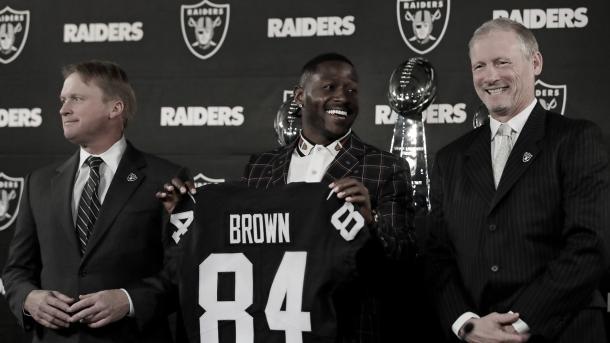 La llegada de Antonio Brown, una de las claves para que HBO elija a los Raiders. Foto: Raiders