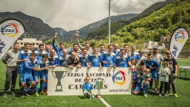 'Chus' Sosa, campeón de la liga andorrana | Foto: FC Santa Coloma
