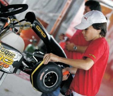 Gonzalo Perlo en sus inicios en el karting. Foto: Imagen Web