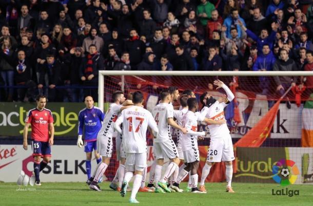 El Nàstic empató a un gol en El Sadar la pasada jornada. (Imagen: LaLiga).
