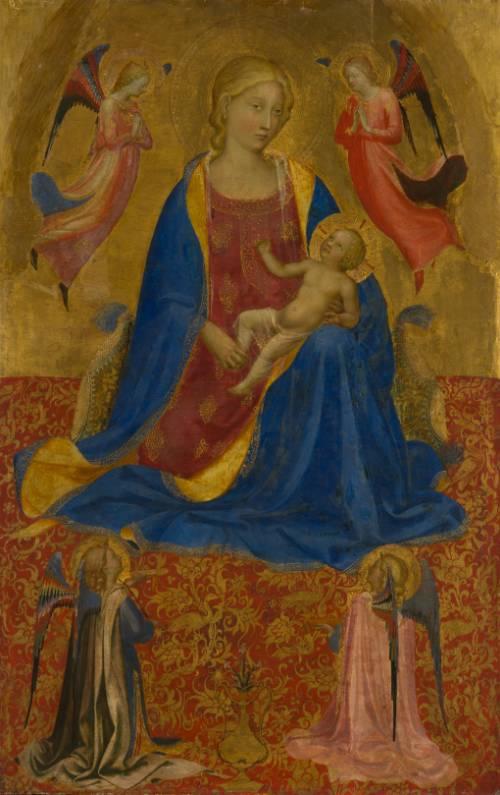 La Virgen y el Niño con cuatro ángeles, Fra Angelico (1417-1419). Museo Estatal del Hermitage.