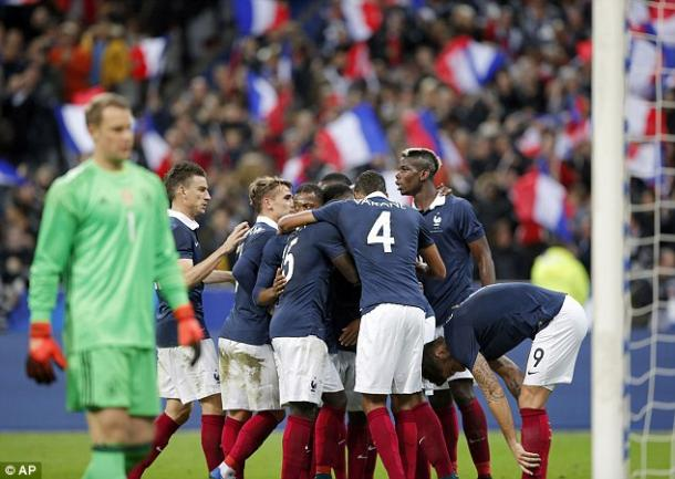 France beat Germany 2-0 in one of a number of friendlies ahead of the tournament (photo: AP)