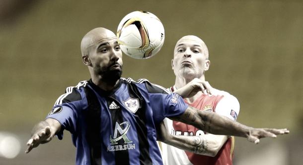 Armenteros in a Europa League game with Qarabag. | Photo: Lionel Cironneau/AP
