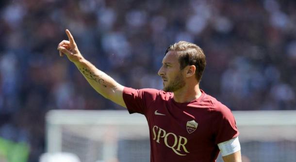 Francesco Totti en su último partido   Foto: AS Roma