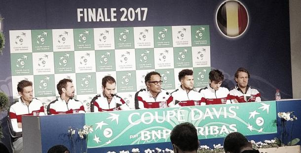 Rueda de prensa del equipo francés, FOTO: FFT