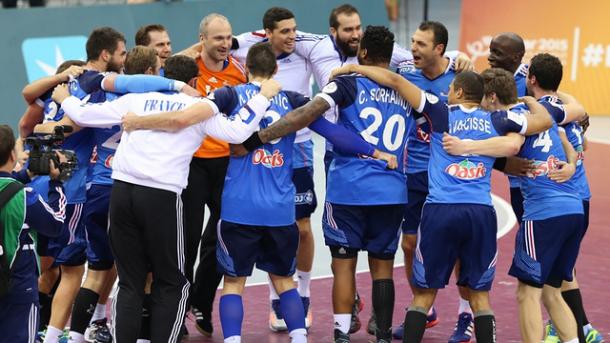 Los jugadores franceses celebran el título en el último Mundial. Foto: Qatar 2015.
