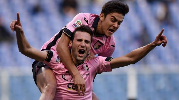 Dybala and Vazquez were key to Palermo's relative success last year | photo: fourfourtwo.com