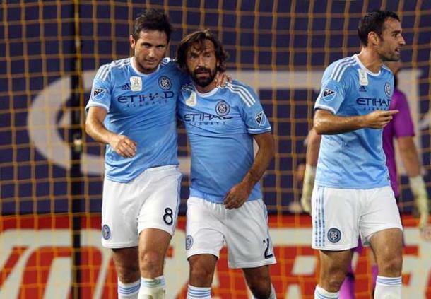Lampard y Pirlo en New York City. Fuente: MLS