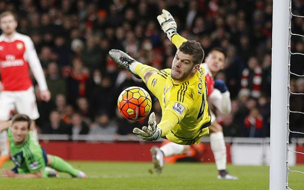 Can Forster keep his unbelievable form up against Chelsea? | Image source: The Telegraph