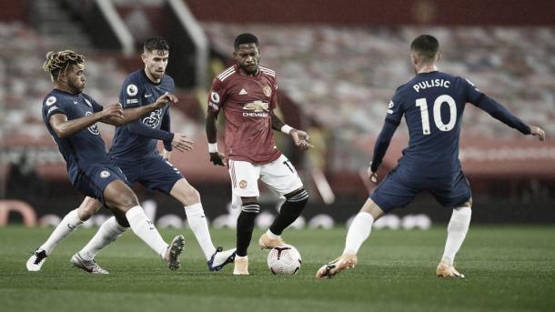 Buen trabajo de Fred en el doble pivote junto a McTominay./ Foto: Premier League