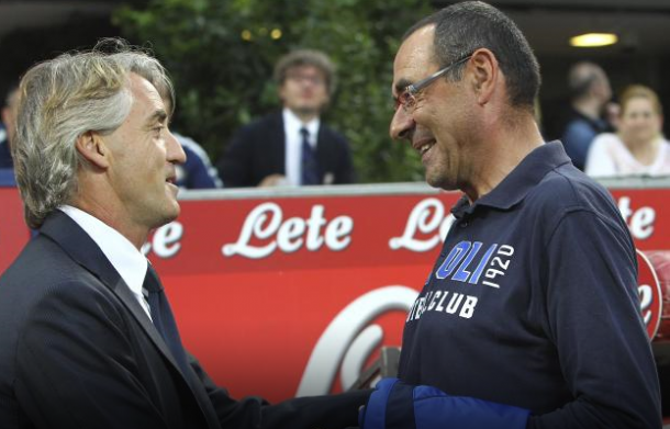 Roberto Mancini and Maurizio Sarri are good friends again  | Photo:Getty Images