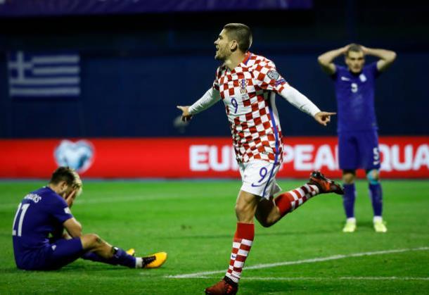 Kramaric marcou o gol que fechou a conta   Foto: Srdjan Stevanovic/Getty Images