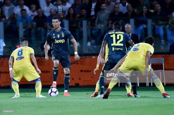 La Juventus no podía con la solidez defensiva del Frosinone / Foto: gettyimages