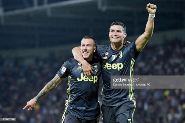 Celebración tras el tanto de Cristiano Ronaldo / Foto: gettyimages