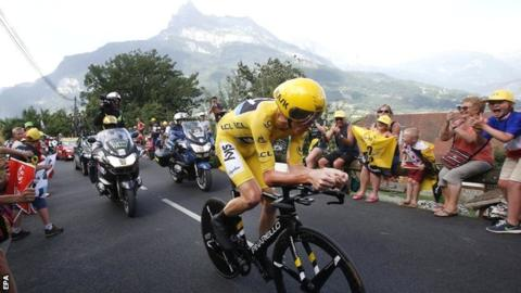 Froome in action yesterday / BBC Sport