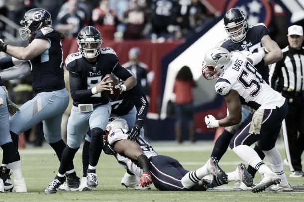 Mariota repartió 228 yardas con dos pases de TD y corrió dos veces para 21 yardas | Foto: Titansonline.com