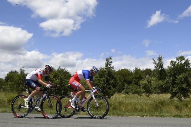 Vichot y Howard han formado la escapada de la jornada   Fotografía: Tour de Francia