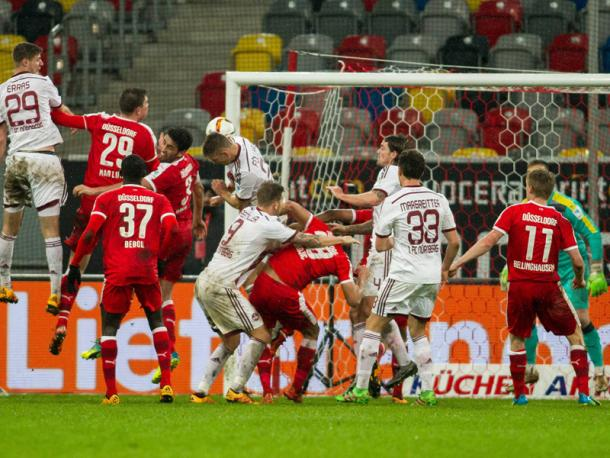 Füllkrug rescues a point for Nürnberg. Image via Kicker.de