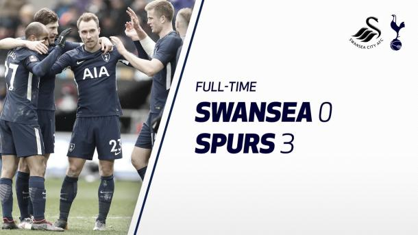 FULL TIME. Foto: @SpursOfficial