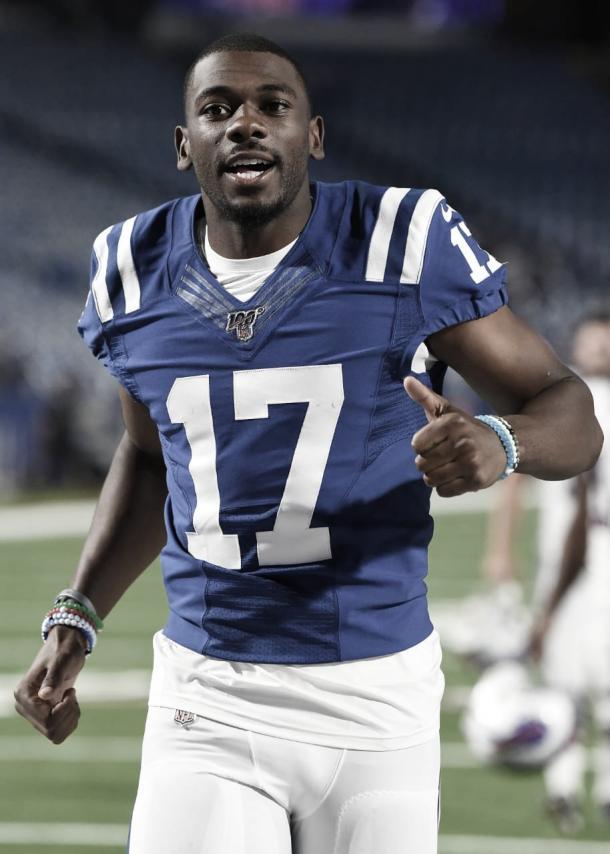 Devin Funchess ha jugado solo un partido en la temporada 2019 (foto Colts.com)