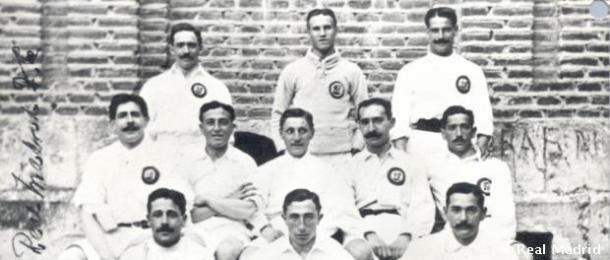 Juan Palacios, Juan Padrós y Carlos Padrós, fundadores del Real Madrid / Fuente: Real Madrid Web Oficial