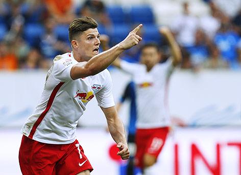 Sabitzer feiert den 2-2 Treffer | Quelle: ORF