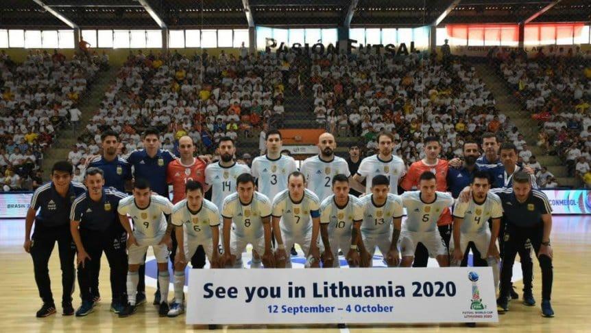 La Selección Argentina de Futsal, preparada para revalidar el campeonato. FOTO: Web.