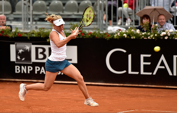 Daria Gavrilova hitting her forehand l Photo: Dennis Grombkowski/ Getty Images