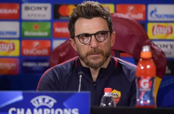 Di Francesco en rueda de prensa | Foto: AS Roma
