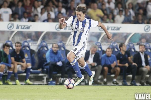 Oyazabal en la Real Sociedad. Fuente: Óscar Alonso VAVEL