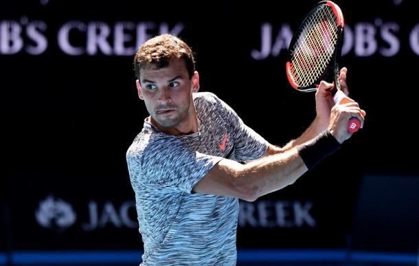 Grigor Dimitrov. Fonte: Ben Solomon/Tennis Australia