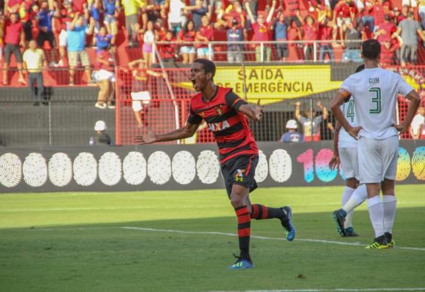 Ex-Fla, Gabriel é uma das apostas do Sport para respirar na tabela do Brasileirão. Foto: Williams Aguiar/Sport Recife