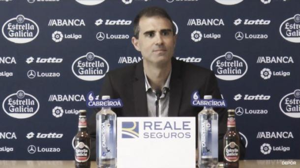 Novo técnico do Deportivo Gaizka Garitano (Foto Divulgação: RC Deportivo La Coruña)