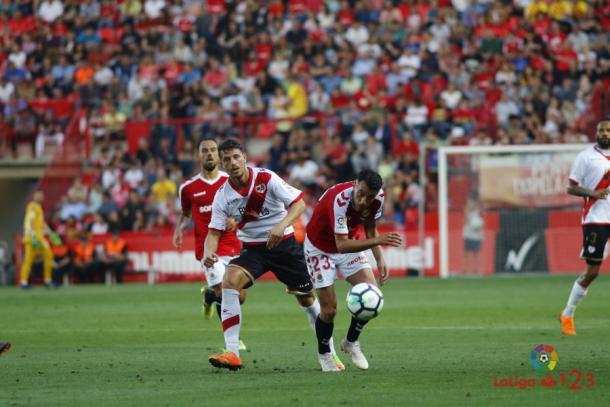 Ernesto en el último partido de la temporada pasada. Fotografía: La Liga