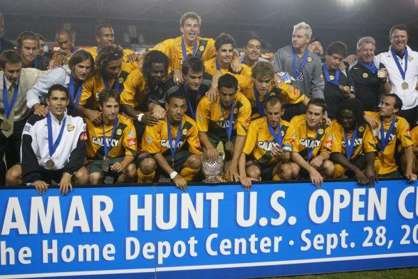 LA Galaxy consigue la Lamar Hunt U.S. Open Cup 2005 (Imagen: thecup.com)