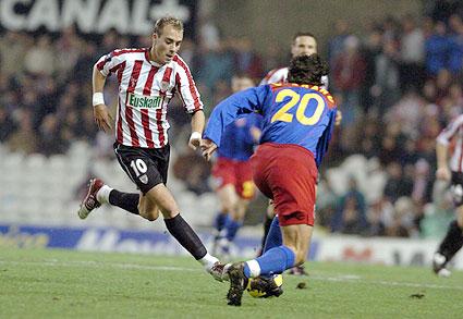 Fran Yeste en un lance del choque.   Foto: Athletic.