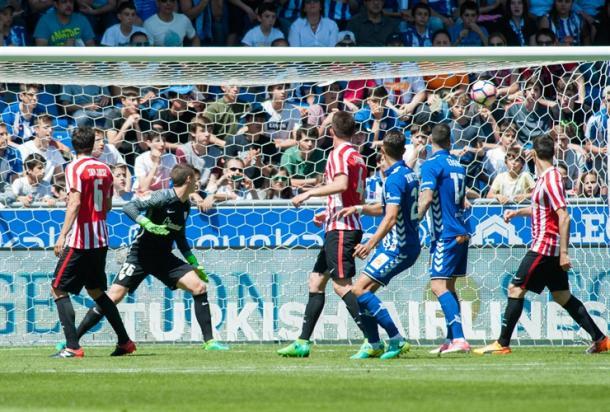 El gol de Theo Hernández.   Foto: Athletic.