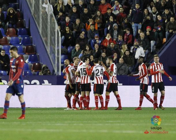 El Athletic celebra el definitivo 1-2. | LFP