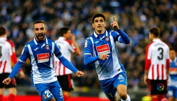 Gerard Moreno celebrando su gol. | Foto: Web Athletic Club