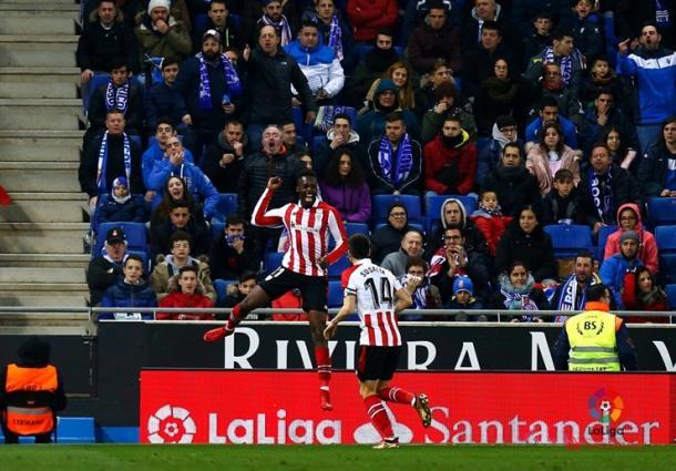 Iñaki Williams celebrando su gol. | Foto: Web Athletic Club