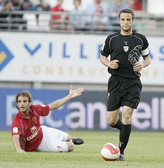 Gurpegui, en uno de los encuentros tras su regreso, en Murcia. | Foto: Athletic.