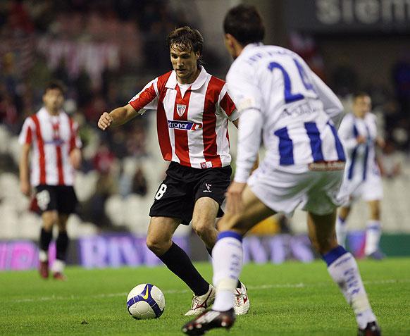 Gurpegui en un encuentro de la Copa del Rey frente al Recreativo. | Foto: Athletic