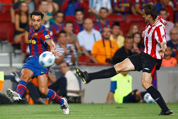 Gurpegui, en su primera Supercopa de España, frente al Barcelona. | Foto: Athletic
