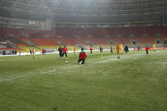 Entrenamiento en Luzhniki. | Foto: Athletic