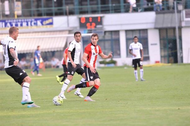Guillermo anotó en el partido ante el Krasnodar | Foto: Athletic.
