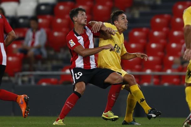 Imagen del primer partido de Liga para Bilbao Athletic y Girona. Foto: Athletic.